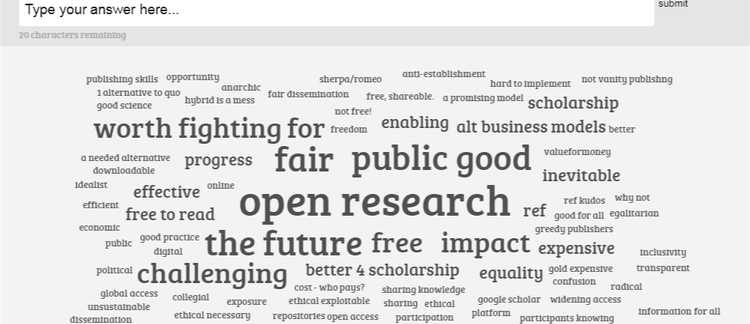 What does open access publishing mean to you?